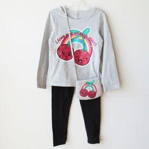 Toughskins Girls Shirt Leggings Purse Set Size 5/6